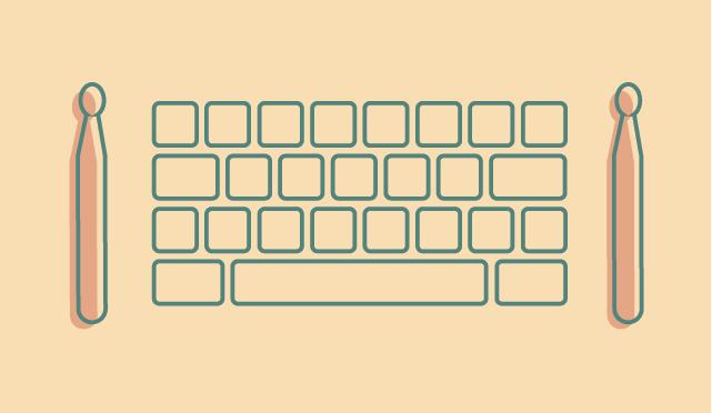 du son au bout du clavier….
