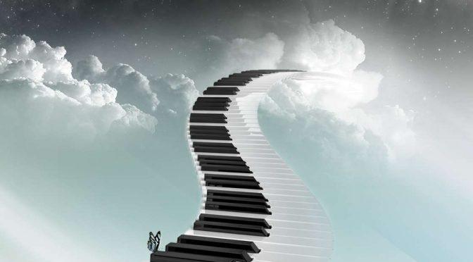 Un musicien qui a la tête dans les nuages….